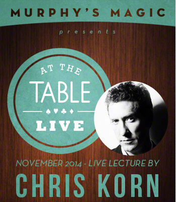 2015 At the Table Live Lecture starring Chris Korn (Download)