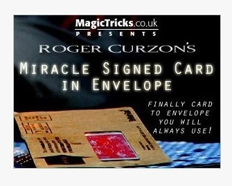 2012 Roger Curzon - Miracle Signed Card in Envelope (Download)