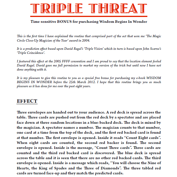 Triple Threat by Andrew Murray