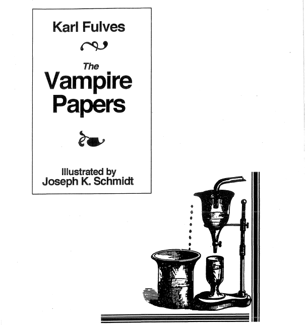 The Vampire Papers by Karl Fulves PDF