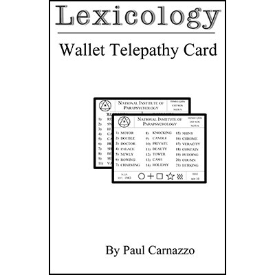 Lexicology with Wallet Telepathy Card by Paul Carnazzo PDF
