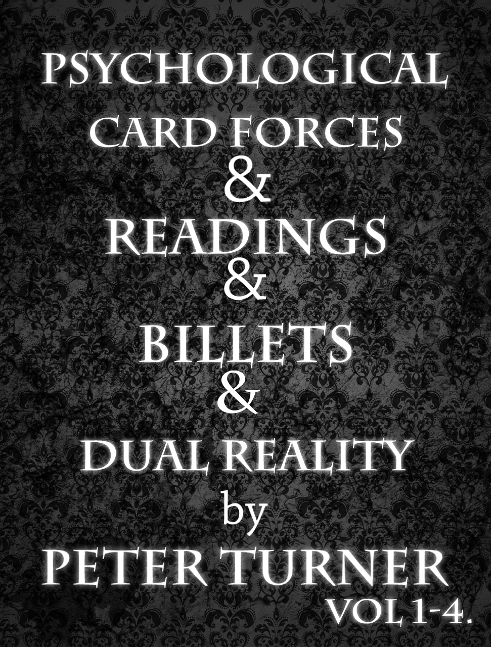 Mentalism Masterclass Vol 1-4 by Peter Turner (Psychological Card Forces, Readings, Dual Reality, Billets)