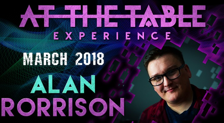 At the Table Live Lecture starring Alan Rorrison 2 March 7th 2018