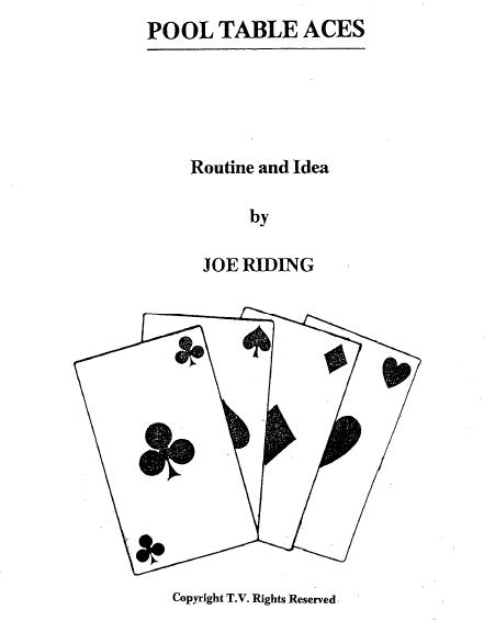Joe Riding - Pool Table Aces PDF