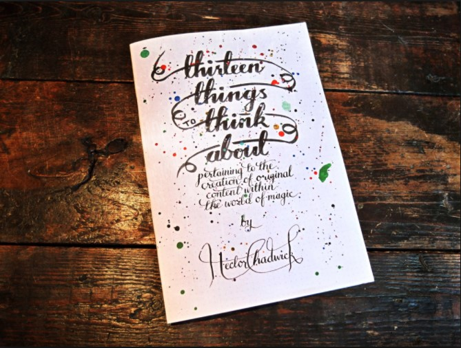 Thirteen Things To Think About By HECTOR CHADWICK PDF