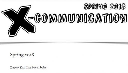 The Jerx – X-Communication Spring Issue 2018 by Andy Jerx