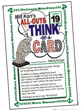 Ron Bauer - 19 All Outs Think of a Card