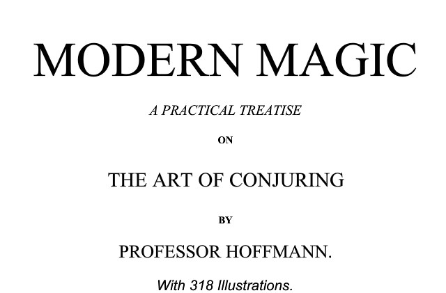 Professor Hoffman Modern Magic