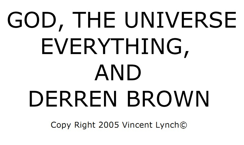 God,The Universe Everything and Derren Brown