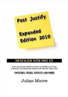 Julien Moore - Post Justify (Post-It Note Mentalism)