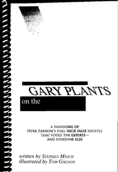 Gary Plants - Gary Plants On The Zarrow Shuffle PDF