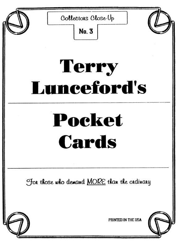 Terry Lunceford - Pocket Cards