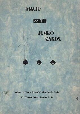 Harry Stanley - Magic with Jumbo Cards