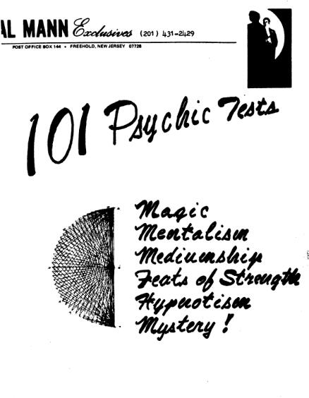Al Mann - 101 Psychic Tests
