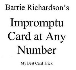 Barrie Richardson - Impromptu Card At Any Number