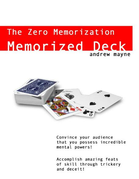 Andrew Mayne - The Zero Memorization Memorized Deck