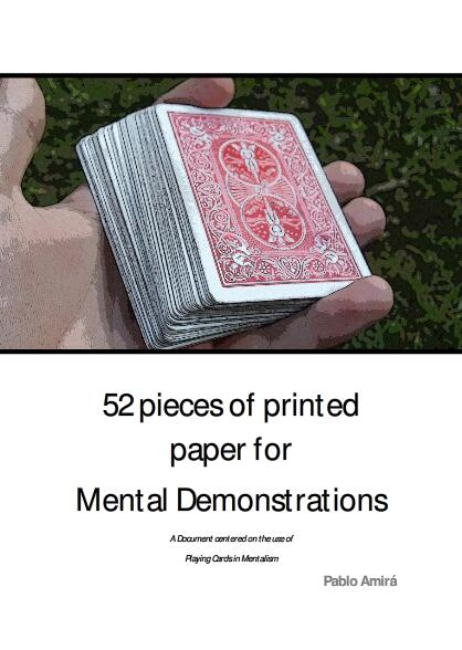 Pablo Amira - 52 Pieces of Printed Paper for Mental Demonstrations
