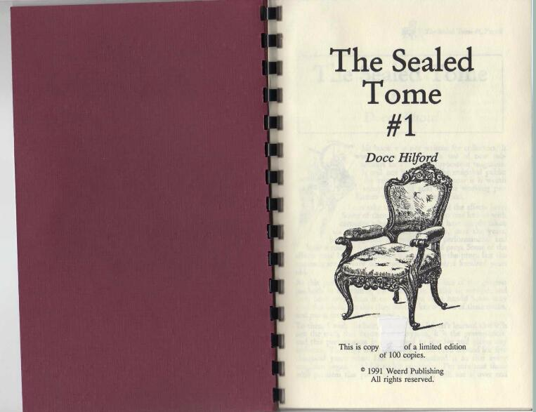 Hilford, Docc - The Sealed Tome #1