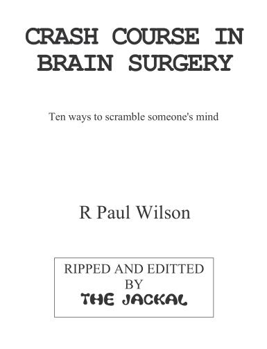 Paul Wilson - Crash course In Brain Surgery
