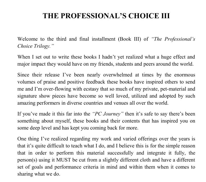 Jerome Finley - The Professional's Choice III