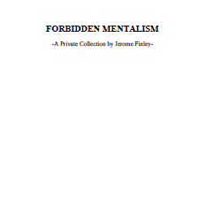 Jerome Finley - Forbidden Mentalism (PDF Download)